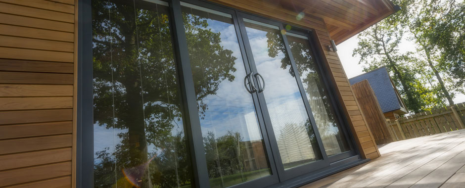 Manchester Bifolding Aluminium contemporary Patio Doors